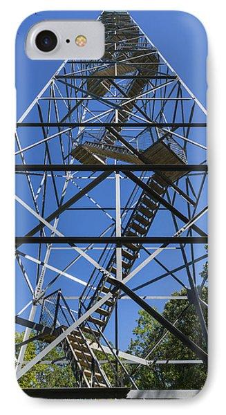 Fire Watch Tower Elba 2 IPhone Case by John Brueske