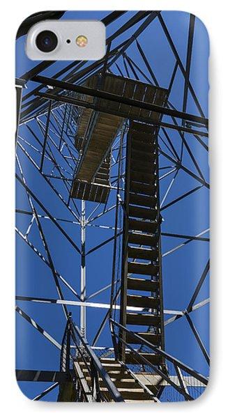 Fire Watch Tower Elba 3 IPhone Case by John Brueske