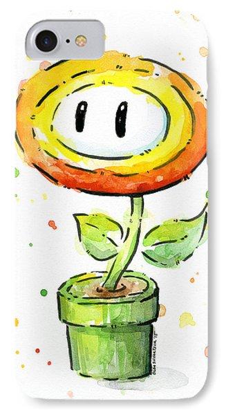 Fireflower Watercolor IPhone Case by Olga Shvartsur
