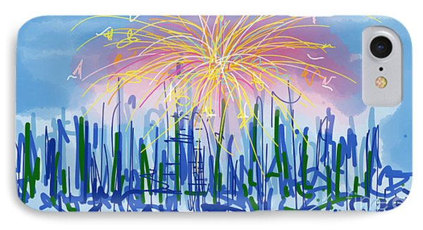Fireworks IPhone Case by Robert Yaeger