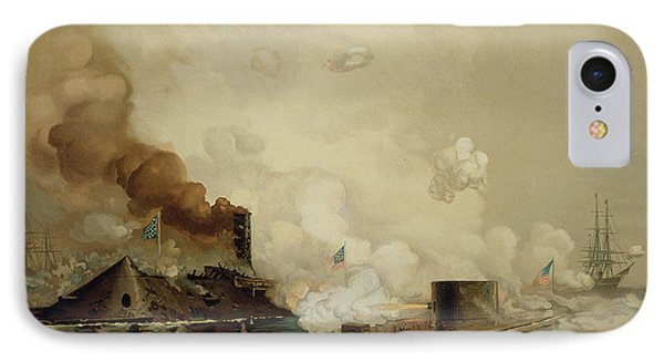 First Fight Between Ironclads IPhone Case by Julian Oliver Davidson