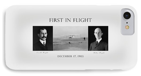 First In Flight - The Wright Brothers IPhone Case by War Is Hell Store