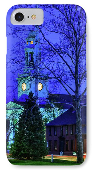 First Parish Church - Concord Ma IPhone Case by Joann Vitali