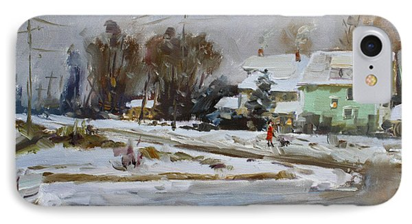 First Snow For This Winter IPhone Case by Ylli Haruni