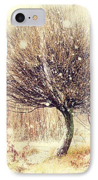 First Snow. Snow Flakes Phone Case by Jenny Rainbow