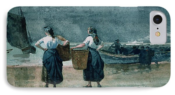 Fisher Girls By The Sea IPhone Case by Winslow Homer