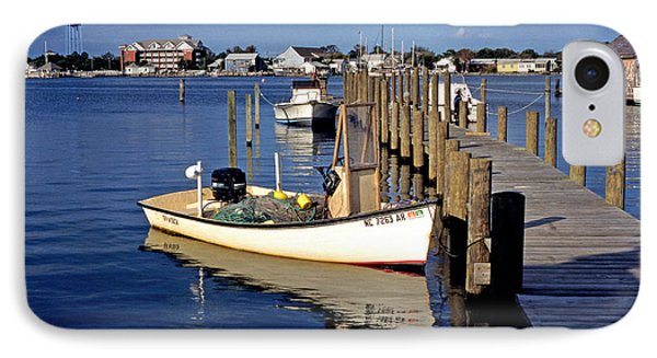 Fishing Boats At Dock Ocracoke Village IPhone Case by Thomas R Fletcher
