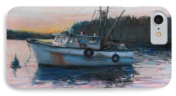 Fishing Trawler At Rest IPhone Case by Jack Skinner