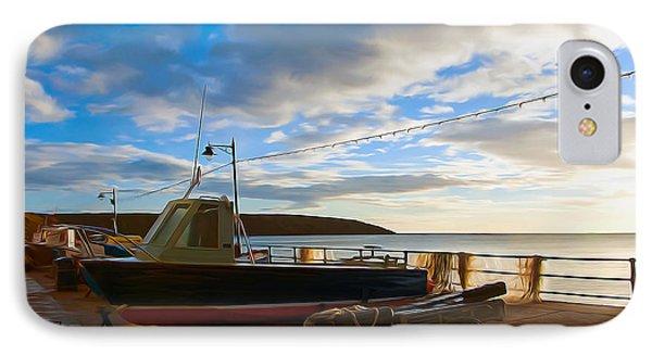 Fishing Village Filey Phone Case by Svetlana Sewell