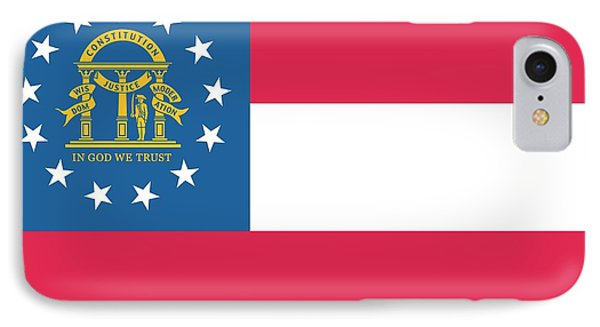 Flag Of The State Of Georgia IPhone Case by American School