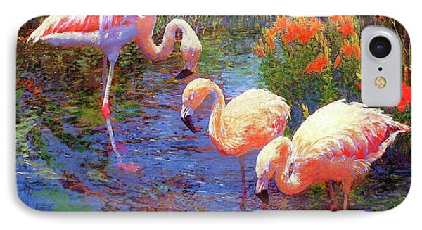 Flamingos, Tangerine Dream IPhone 7 Case by Jane Small