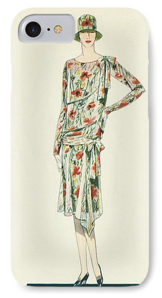 Flapper In An Afternoon Dress IPhone Case by American School