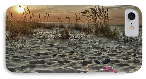 Flipflops On The Beach Phone Case by Michael Thomas
