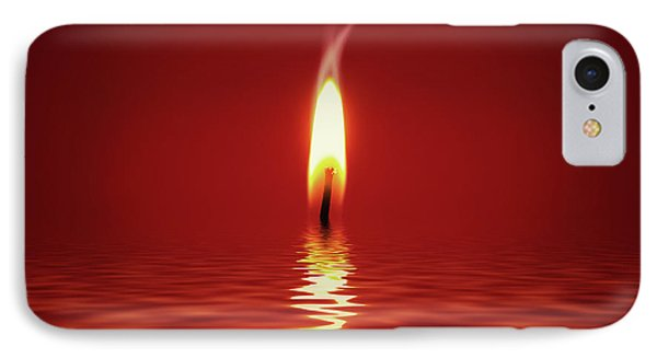Floating Candlelight IPhone Case by Wim Lanclus