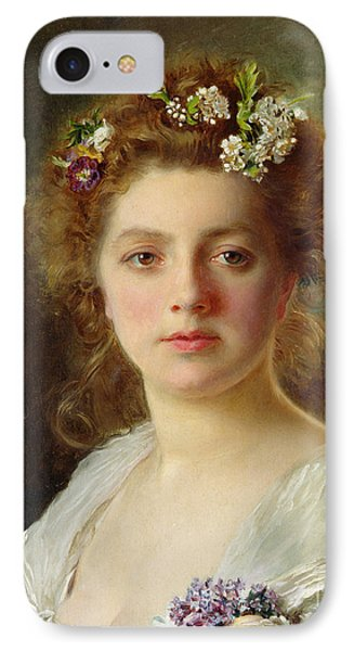Flora IPhone Case by Gustave Jacquet