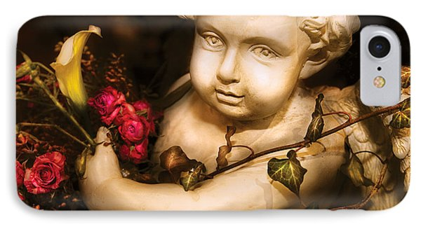 Flower - Rose - The Cherub  Phone Case by Mike Savad