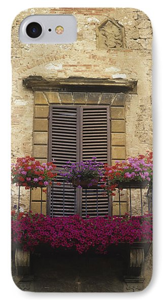 Flower Covered Balcony IPhone Case by Axiom Photographic