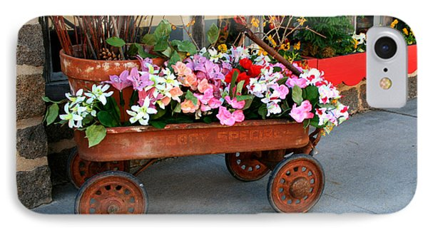 Flower Wagon Phone Case by Perry Webster