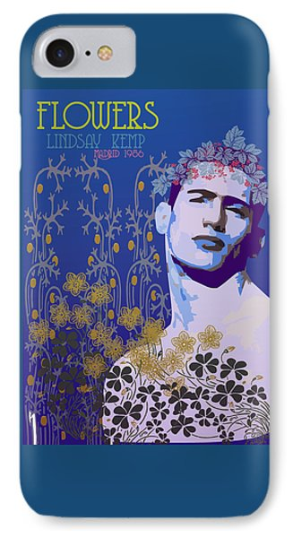 Flowers Of Lindsay Kemp IPhone Case by Quim Abella