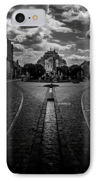 Flowing Street Of Kosice IPhone Case by Justin Woodhouse