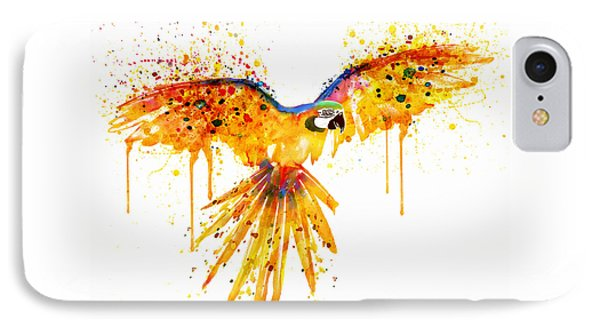 Flying Parrot Watercolor IPhone Case by Marian Voicu
