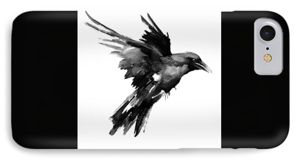 Flying Raven IPhone Case by Suren Nersisyan