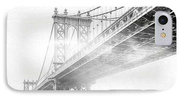Fog Under The Manhattan Bw IPhone 7 Case by Az Jackson