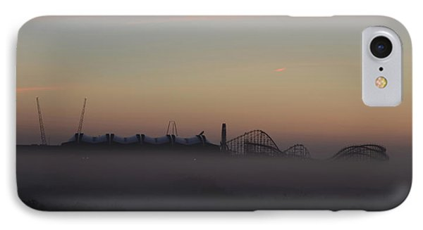 Foggy Beach In Wildwood IPhone Case by Bill Cannon