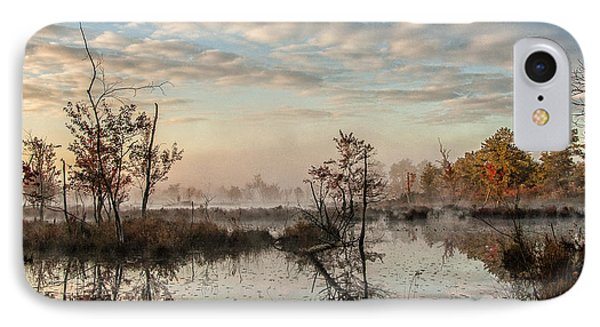 Foggy Morning In The Pines IPhone Case by Louis Dallara
