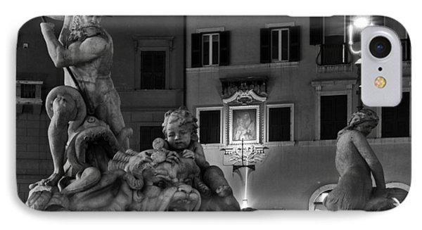 Fontana Del Nettuno Phone Case by Fabrizio Troiani