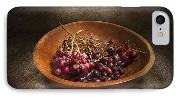 Food - Grapes - A Bowl Of Grapes  Phone Case by Mike Savad