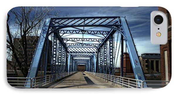 Foot Bridge Over The Grand River Phone Case by Richard Gregurich