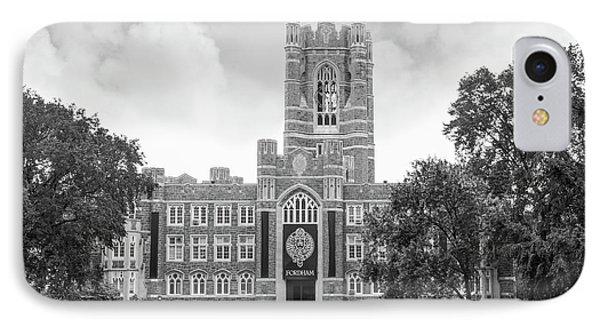 Fordham University Keating Hall IPhone Case by University Icons