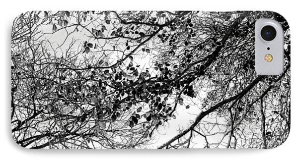 Forest Canopy Bw IPhone Case by Az Jackson