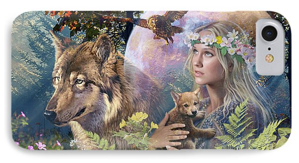 Forest Friends 2 IPhone Case by Steve Read