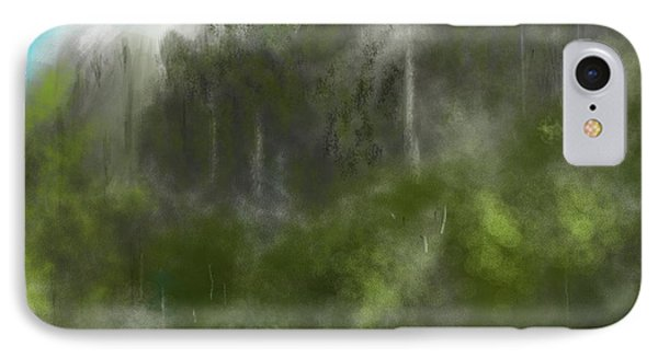 Forest Landscape 10-31-09 Phone Case by David Lane