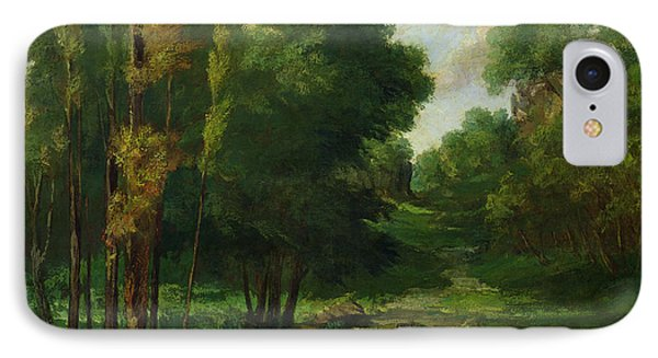 Forest Landscape IPhone Case by Gustave Courbet