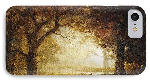 Forest Sunrise IPhone Case by Albert Bierstadt