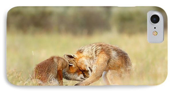 Foreverandeverandever - Red Fox Love IPhone Case by Roeselien Raimond
