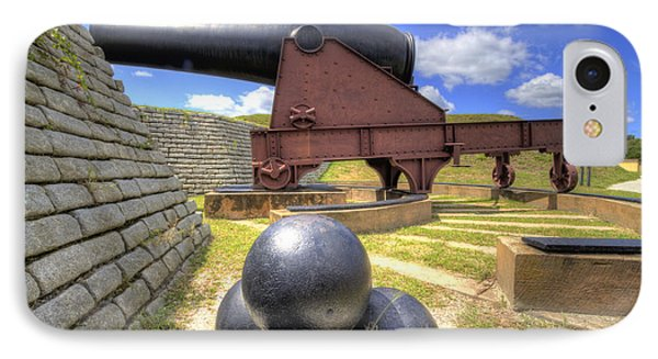 Fort Moultrie Cannon Balls IPhone Case by Dustin K Ryan