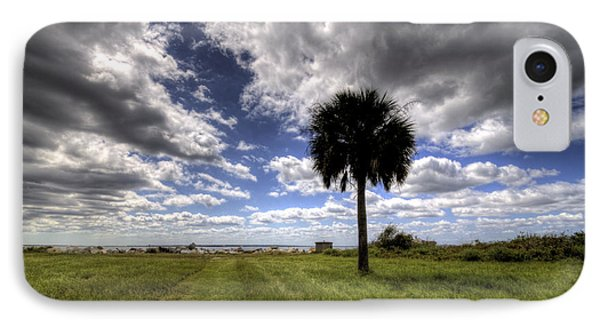 Fort Moultrie Palm  IPhone Case by Dustin K Ryan