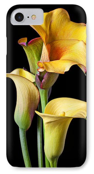 Four Calla Lilies IPhone 7 Case by Garry Gay