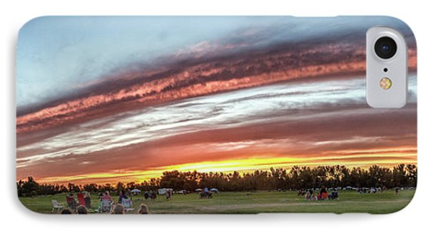 Fourth Of July Sunset At Gem Island IPhone Case by Robert Bales