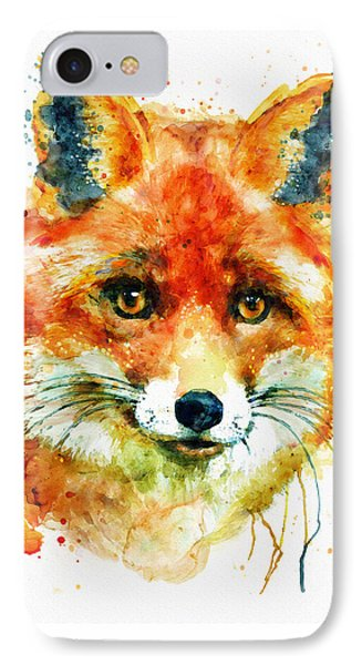 Fox Head IPhone Case by Marian Voicu