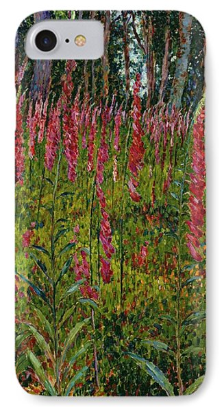 Foxgloves IPhone Case by Georges Lacombe