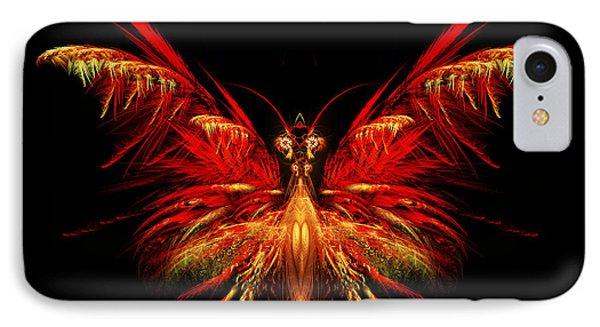 Fractal Butterfly IPhone Case by John Edwards
