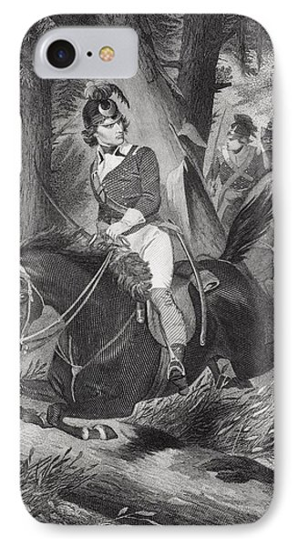 Francis Marion 1732-1795. Officer IPhone Case by Vintage Design Pics