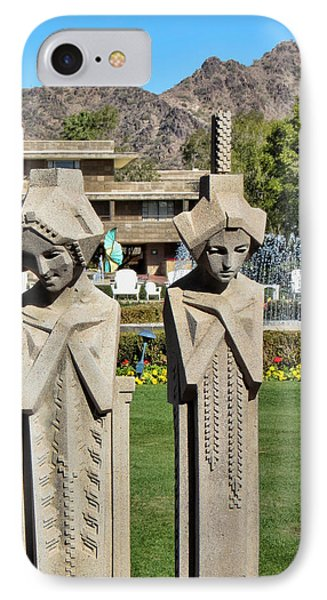 Frank Lloyd Wright Maidens At The Biltmore Phone Case by Diane Wood