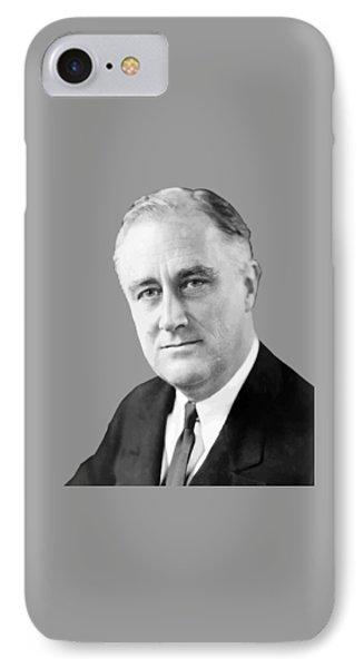 Franklin Delano Roosevelt IPhone Case by War Is Hell Store