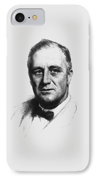 Franklin Roosevelt IPhone Case by War Is Hell Store